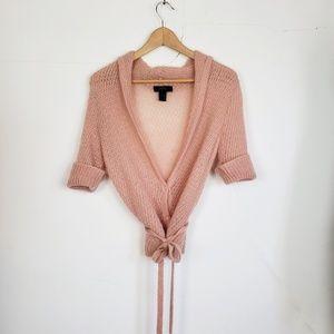 Express Pink Mohair/Wool Blend Sweater